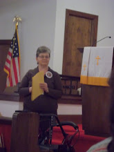 Photo: Lavonda Shadix, East Central Dist. Coord., invites us to Fall Retreat.748