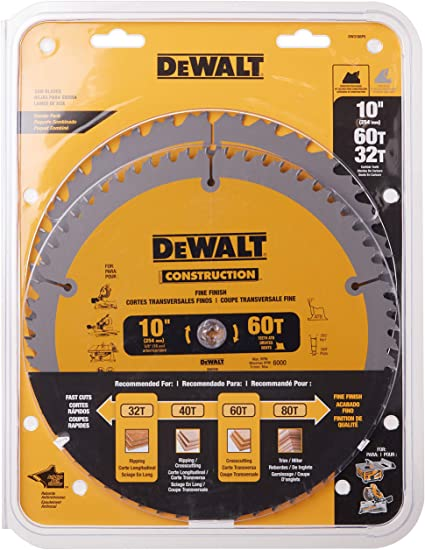 DeWALT 10-Inch Miter/Table Saw Blade