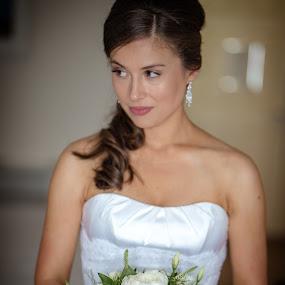 Blushing Bride by Paul Duane - Wedding Bride ( weddingdress, bouquet, bridal, wedding, bride )