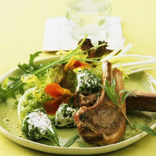 Lamb Chop with Salad.