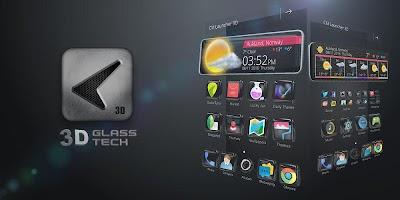 screenshot of Glass Tech 3D Live Theme