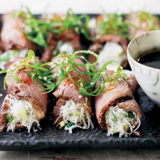 Rare Beef And Daikon Rolls
