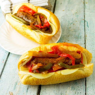 Classic Slow Cooker Sausage and Peppers.