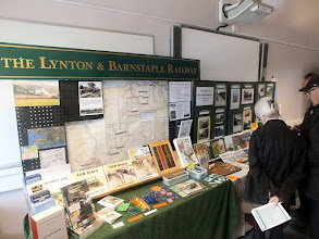 Photo: 024 An impressive publicity display set up by the Lynton and Barnstaple Railway, which continues to grow from strength to strength .