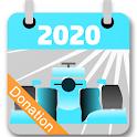 E Racing Calendar 2020 - Donation icon