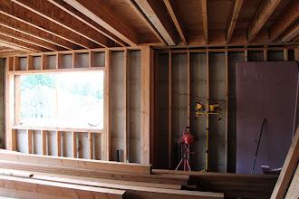 Photo: Basement wall framing