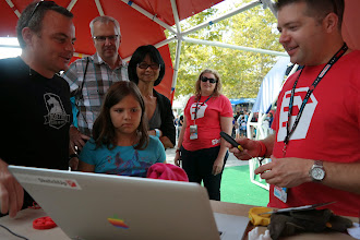 Photo: Once Maker Faire got started, our hands were full teaching SketchUp and 3D printing.