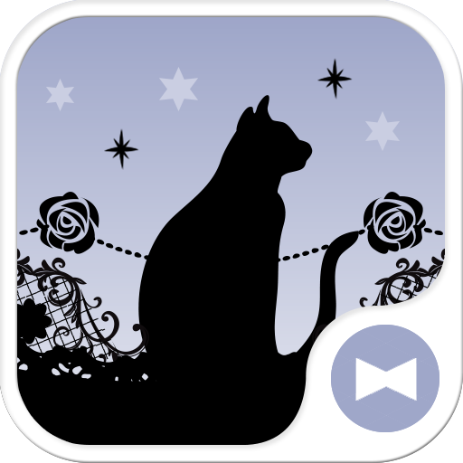 Gothic-Starry Sky, Black Cat- Icon