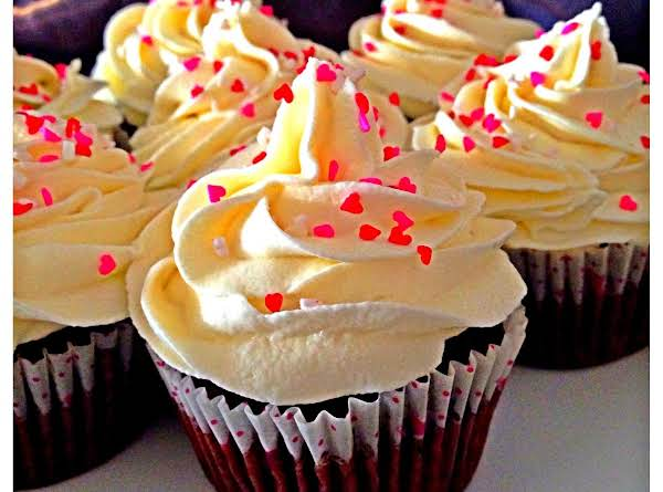 A Simple Mix And Bake Red Velvet Cupcake. Moist And Soft With Perfect White Chocolate Frosting