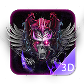 Dragon and bloody skull 3D launcher theme