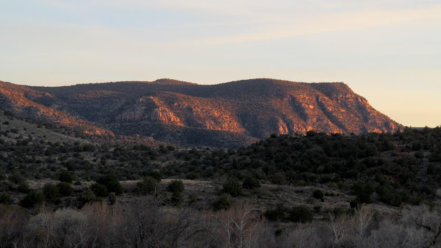 Walker Mountain at sunset