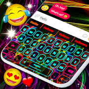 Neon Keyboard HD \u2764\ufe0f Emoji Neon Keyboard Themes