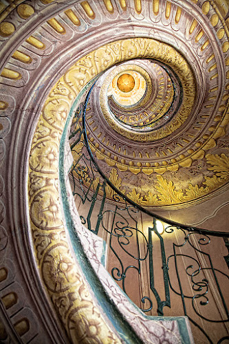 Melk spiral staircase by Robert Luca - Buildings & Architecture Architectural Detail ( melk spiral staircase interior detail stairs )