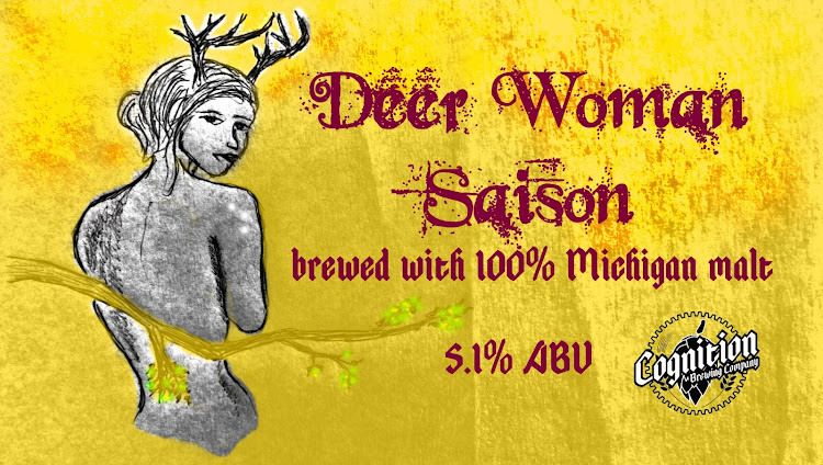 Logo of Cognition Deer Woman Wheat Saison