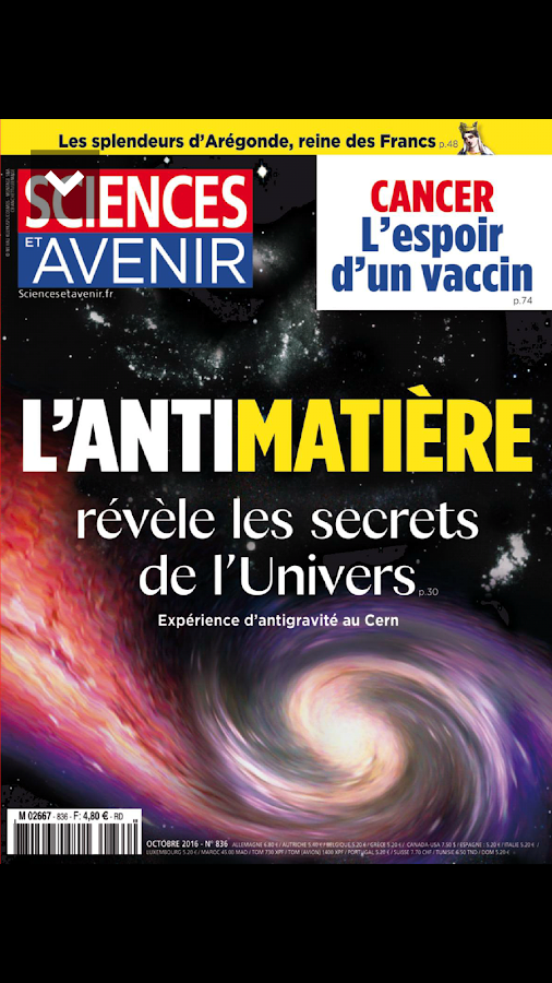 Sciences et Avenir magazine- screenshot