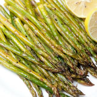 Oven Roasted Lemon Asparagus.