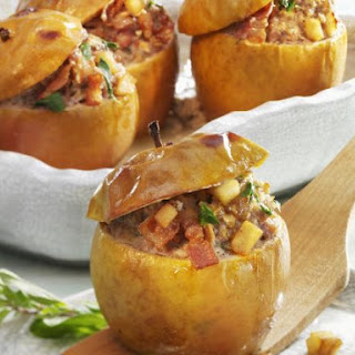 Apple Bake with Meat Stuffing