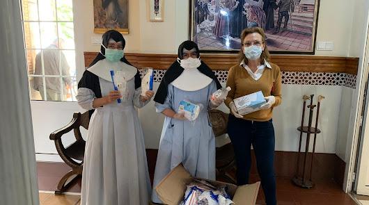 Briseis y Cosentino donan abundante material sanitario a residencias de ancianos