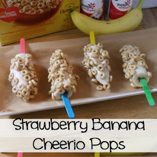 Strawberry Banana Cheerio Pops