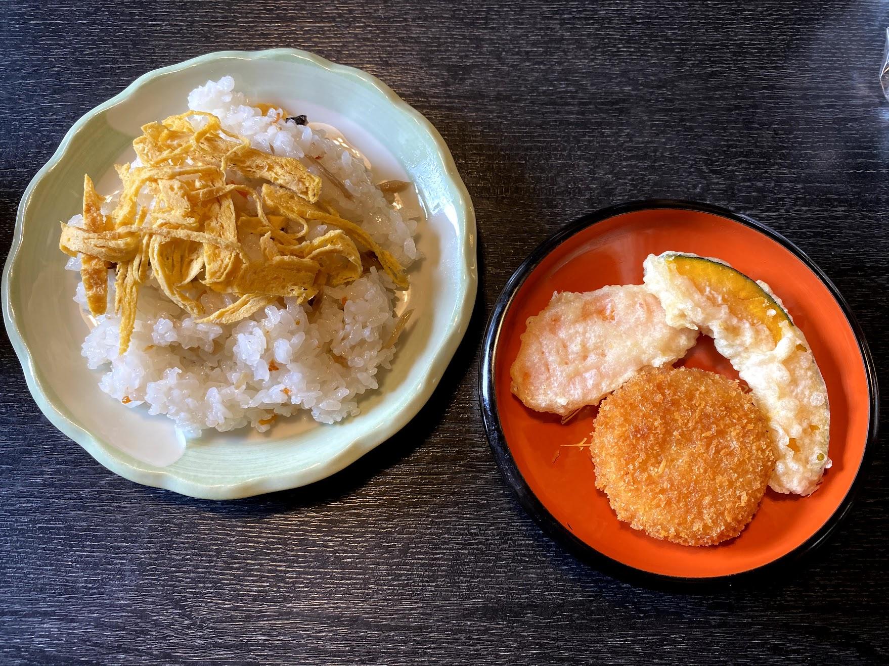 ちらし寿司と天ぷら