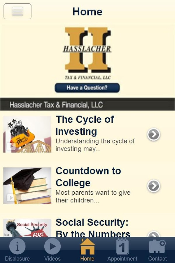 Hasslacher Tax & Financial- screenshot