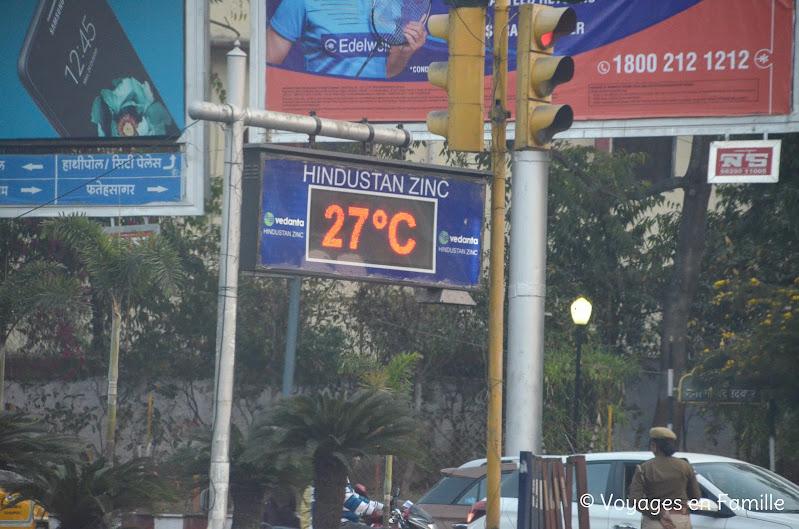 Udaipur, température