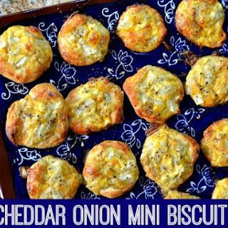 Easy Cheddar Onion Mini Biscuit Puffs.