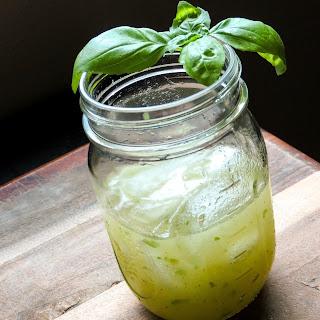 Spicy Honeydew Basil Margarita.