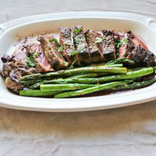 Strip Steak with a Red Wine Reduction