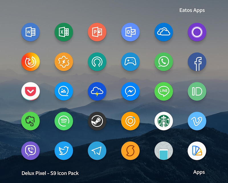 Delux Pixel - S9 Icon pack Screenshot 2