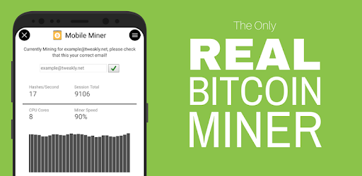 Mobile miner real bitcoin miner beta apps on google play ccuart Choice Image