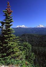 Photo: Three Sisters, Cascade Mountains, Oregon