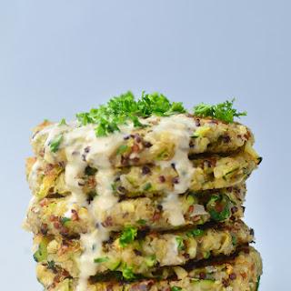 Greek Quinoa Zucchini Fritters Recipe