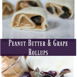 Peanut Butter & Grape Rollups - Perfect For Lunches & Healthy Snacks
