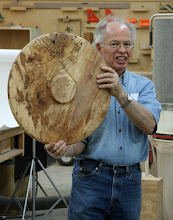 Photo: Phil Brown, large silver-maple platter equipped as a wall hanging