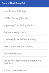 Foods That Burn Fat- screenshot thumbnail