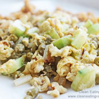 Clean Eating Dinner – Cucumber Egg Stir Fry