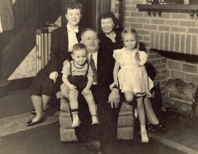 Photo: Osmund & Hildur Osmundsen with daughter Florence and grandchildren Arthur and Karen in Woodcliff New Jersey ~1947