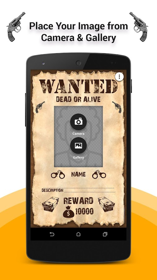 wanted poster maker android apps on google play. Black Bedroom Furniture Sets. Home Design Ideas