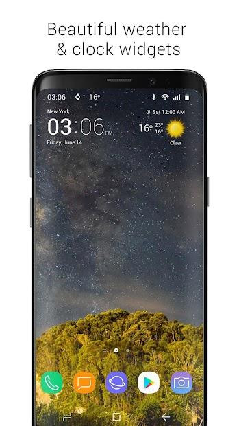 Transparent clock & weather - forecast & radar Android App Screenshot