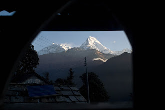 Photo: Bedroom with a view at Ghorepani