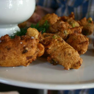 Butter Clam Fritters With Wild Sorrel Aioli.