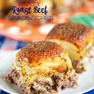 Party Roast Beef Sandwiches.