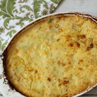 Cheesy Jalapeno and Bacon Potato Au Gratin