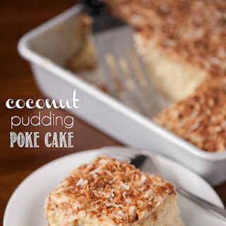 Coconut Pudding Poke Cake