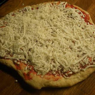Homemade Frozen Pizza.