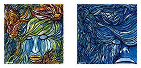 Photo: 落ちてゆく鼓動・哀しみの果て / 2002  Free Art Free 出展作品(25×25cm)