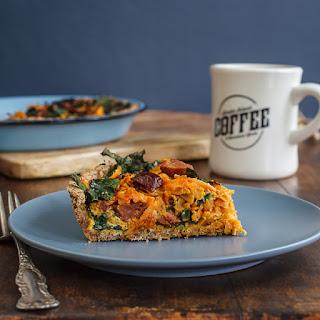Sweet Potato-kale Tart