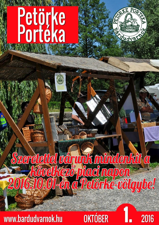 Petörke Portéka - helyi piac plakát