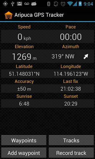 Aripuca GPS Tracker screenshot 1